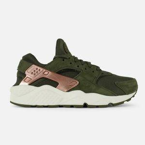 Nike Air huarache run olive green women's shoes